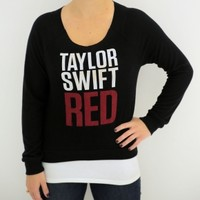 "Black ""RED"" Long Sleeve Sweater"