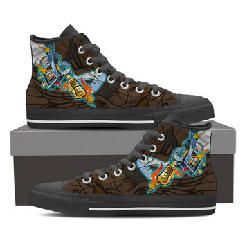 Tattoo Gun Shoes