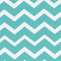 Keepsake Calico Cotton Fabric-Turquois & White Chevron | Jo-Ann