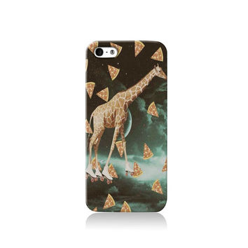 Trippy Pizza Giraffe iPhone case, iPhone 6 case, iPhone 4 case iPhone 4s case, iPhone 5 case 5s case and 5c case