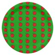 Paper Plate with Red Apples on Green 9 Inch Paper Plate