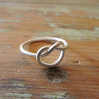 Knot Sterling Silver Ring, Minimal Jewellery, Women Rings