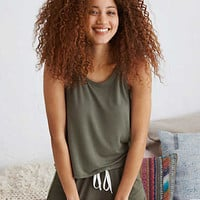 Aerie Real Soft® Swing Tank , Camo Green