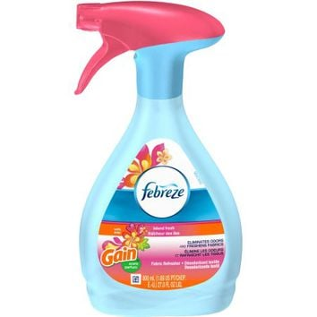 Febreze with Gain Scent Island Fresh Fabric Refresher, 27 fl oz - Walmart.com
