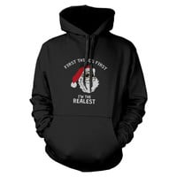First Thing First Santa Hoodie Christmas Sweatshirt For Dog Lovers