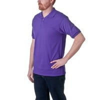 Mens Cotton/Poly Comfortable Solid Color Polo