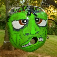 Frankenstein Gourd Birdhouse Hand Painted Origina Designs by Sugarbear