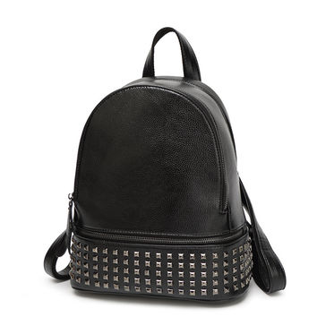 Rivets Backpack Women Small Backpacks For Teenage Girls Bagpack Women's Casual Daypacks Female Backpack sac a dos femme
