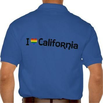 I love LGBT California state Polo Shirt