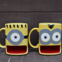 A Minion of My Very Own - Ceramic Cookies and Milk Dunk Mug - Two Eyes - Ready to Ship