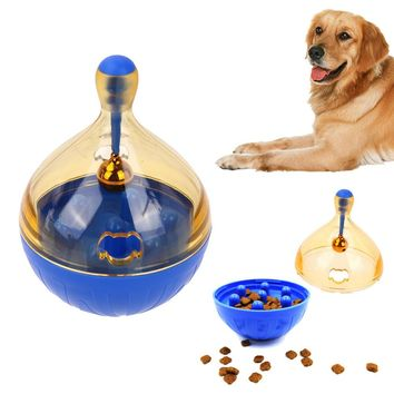 Plastic Large Tumbler Leakage Food Ball Puppy Pet dogs cats Training Exercise Fun Bowl Tasty Toy Bell Mascota Pet Feeder