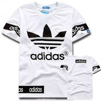 Adidas Men Fashion Casual Letter Print Shirt Top Tee