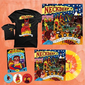 Life's Not Out To Get You Flag + Snake & Devil T-Shirt + LP Bundle : HLR0 : MerchNOW - Your Favorite Band Merch, Music and More