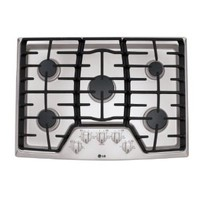 "LG LCG3011ST 30"" Stainless Steel Gas Sealed Burner Cooktop"