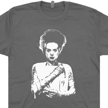 Bride Of Frankenstein Shirt Vintage Horror Movie T Shirts Bride Of Frankenstein TShirt