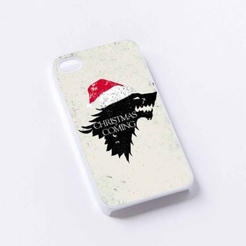 winter is coming stark christmas iPhone 4/4S, 5/5S, 5C,6,6plus,and Samsung s3,s4,s5,s6