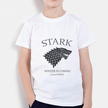 game of thrones t shirts boys streetwear tops brand clothing funny t shirt winter is coming kids t-shirts children baby clothes