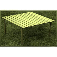 Table in a Bag Low Wood Table (Italian Olive) (27x27x16)