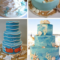 Five Perfect Designs for Your Beach Wedding Cake