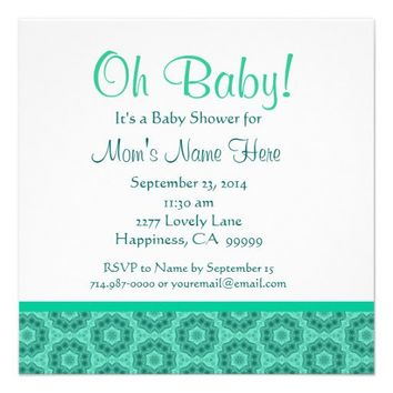 Green Petite Flowers Gender Neutral Baby Shower Invitation - Personalize online