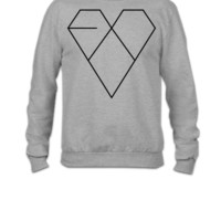 EXO XOXO ERA HEART - Crewneck Sweatshirt