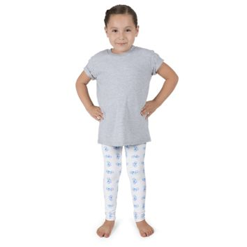Bicycle Purple and Blue Kid's Leggings - White
