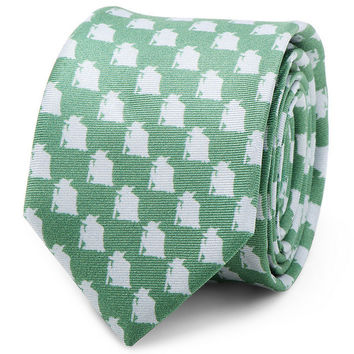 Star Wars Yoda Green And Gray Skinny Mens Tie