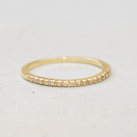 Eternity Ring - Gold with Champagne