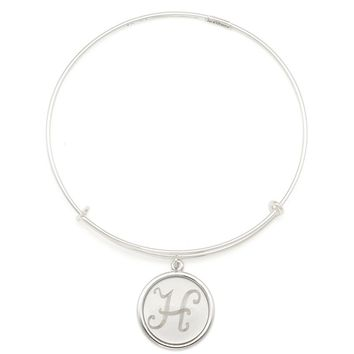 Alex and Ani Precious Initial H Charm Bangle - Argentium Silver