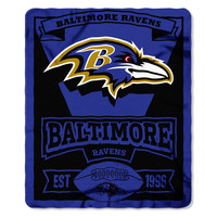 Baltimore Ravens NFL Light Weight Fleece Blanket (Marque Series) (50inx60in)