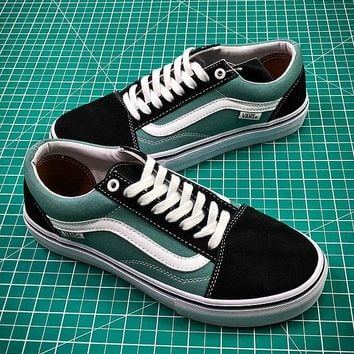 Vans Old Skool Pro Black Green White VN000ZD4OJE - Best Online Sale