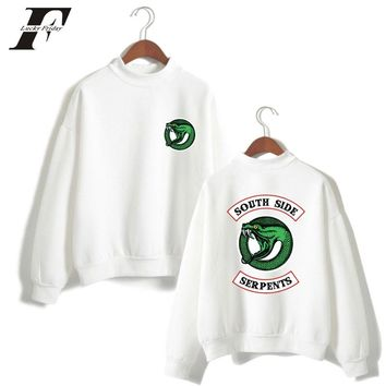 luckyfridayf Riverdale Turtleneck cotton oversized Hoodie Sweatshirt men women riverdale south side serpents hit hop tracksuit
