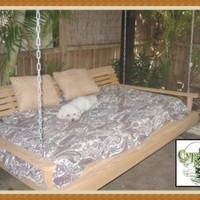 Giant Cypress Swing Bed FREE SHIPPING by CypressMoonFurniture
