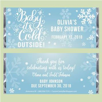 Baby It's Cold Outside Shower Candy Bar Wrapper