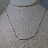 "Sterling Silver 24"" Twisted Rope Chain Necklace, 2.5mm,  Italy, 925, 7.12 gr., UNISEX"