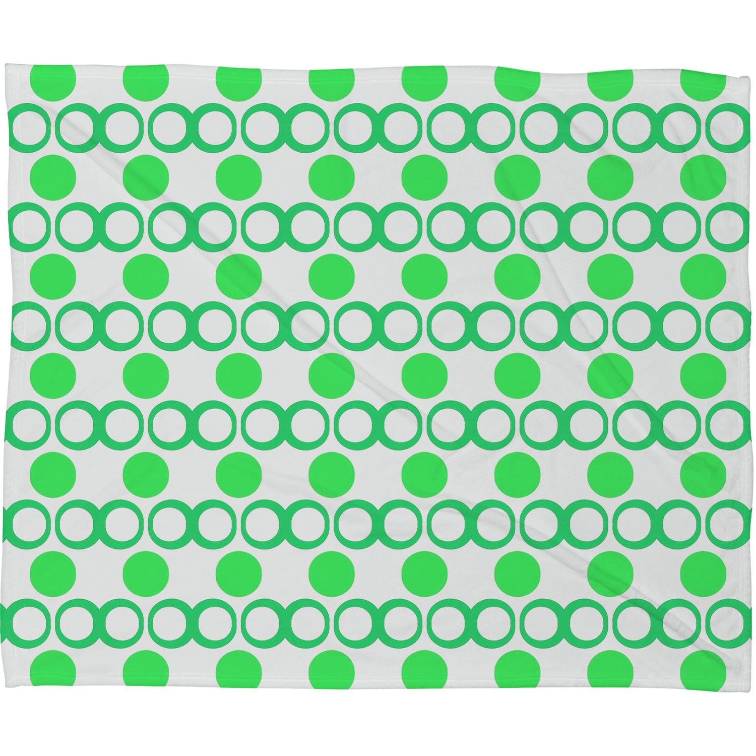 Lisa Argyropoulos Retrocity In Spearmint Fleece Throw Blanket