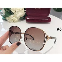 GUCCI 2019 new women's large frame driving color film polarized sunglasses #6