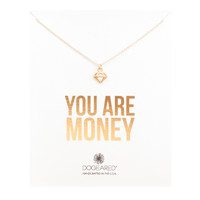 You Are Money Open Diamond Necklace, Gold Dipped | Dogeared