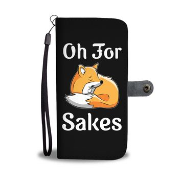 Oh For Fox Sakes Black Wallet Phone Case