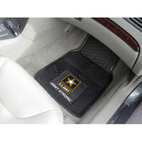 "Fan Mats Army Heavy Duty 2 Piece Vinyl Car Mats 18""X27"""