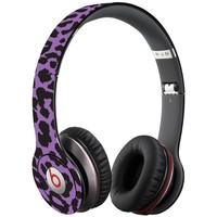 Purple Leopard Decal Skin for Beats Solo HD Headphones by Dr. Dre