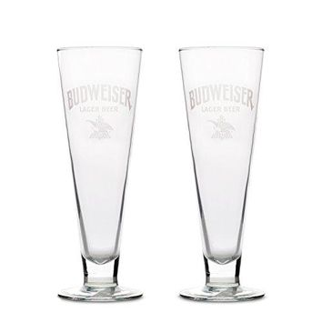 Budweiser 2Pack Retro Pilsner Glass 15oz