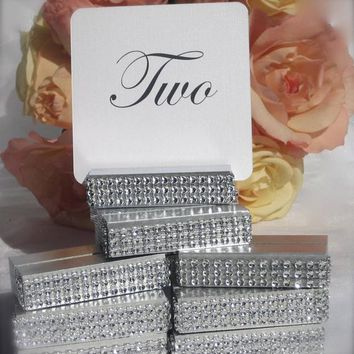 Table Number Holder Silver Card Holder Wedding Card Holder 3 inch Set of 15 For Restaurants Weddings Banquets by Gallery360Designs