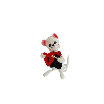 Annalee Dolls 6in 2014 Valentine Key to My Heart Mouse Plush New with Tags