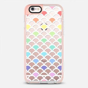 Pastel Rainbow Scallop Pattern Transparent iPhone 6s case by Organic Saturation | Casetify