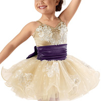 Lace Satin Curly Hem Tutu Dress -Weissman Costumes