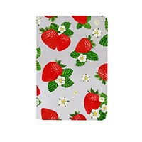Strawberry Pattern Leather Passport Holder Protector Cover_SUPERTRAMPshop