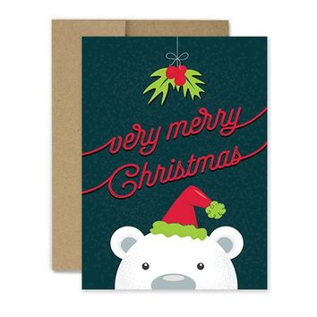 Polar Bear Greeting- Holiday Card