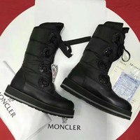 Moncler Women Fashion Casual Half Boots Flats Shoes