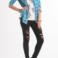 Nollie Burnout Plaid Shirt at PacSun.com